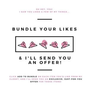 Liked a few items? Put them in a bundle!